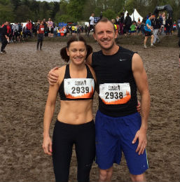 We ran the Tough Mudder for Harrison...and it was 'Tough' and extremely 'Muddy'!!'